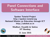 Panel connections and software interface - thumb