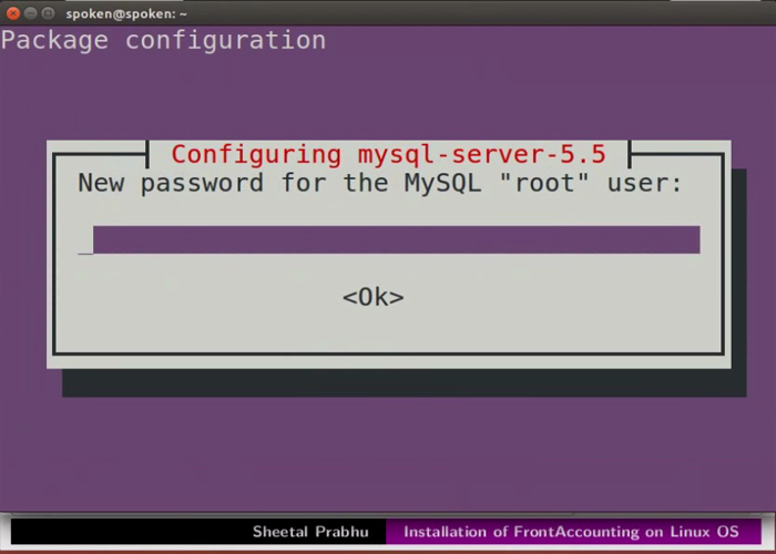 Installation of FrontAccounting on Linux OS - English