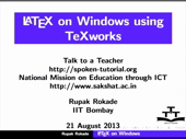 LaTeX on Windows using TeXworks - thumb