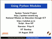 Using Python Modules - thumb