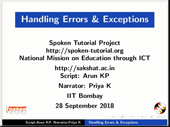 Handling Errors and Exceptions - thumb