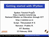 Getting started with IPython
