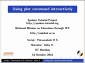 Using plot command interactively - thumb