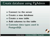 Overview of RDBMS - PostgreSQL - thumb