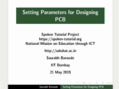 Setting Parameters for PCB designing - thumb
